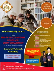 Msc in occupational safety