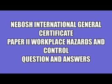nebosh IGC Unit 2 Element 1 Question 2