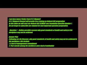 Nebosh IGC unit 1 element 1 question 1