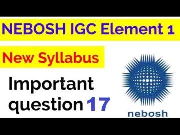 NEBOSH IGC UNIT IG1 ELEMENT 1 QUESTION 17 WITH ANSWER