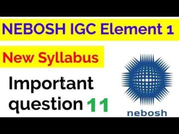 NEBOSH IGC UNIT IG1 ELEMENT 1 QUESTION 11 WITH ANSWER