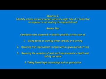 Nebosh IGC Unit 1 Element 1 Question 2