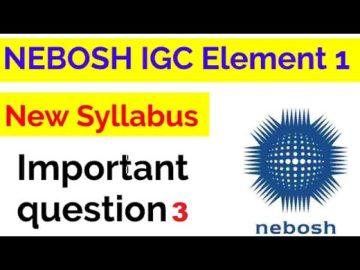 NEBOSH IGC UNIT IG1 ELEMENT 1 QUESTION 3 WITH ANSWER